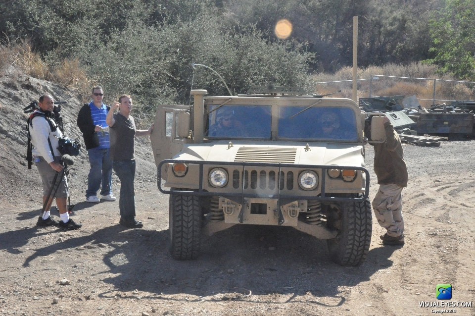 Dr. Gerard Gibbons Director VISUAL EYES Emotive Storytelling Team directs the Humvee IED shot