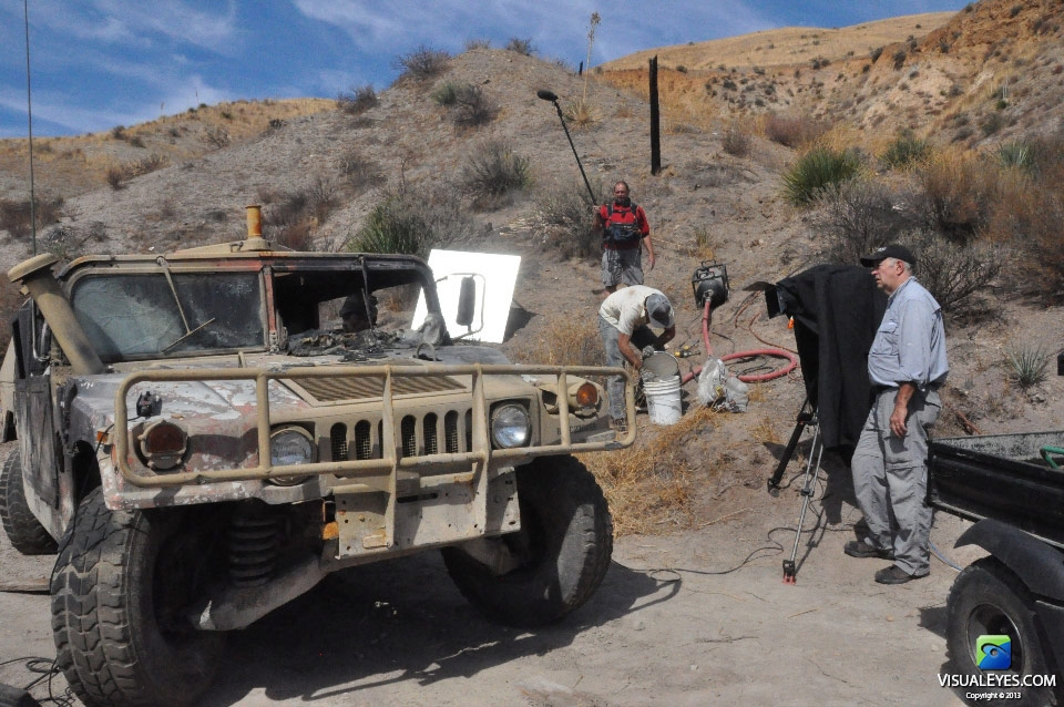 VISUAL EYES Emotive Storytelling Team captures Humvee post explosion