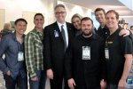 Dr. Gerard Gibbons and VISUAL EYES Emotive Storytelling Team and CEO Joe Lamond at NAMM 2013 with American Soldiers Network.