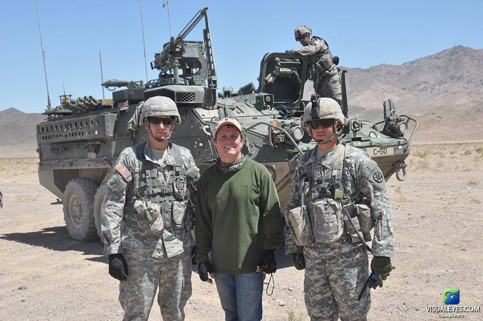 VISUAL EYES Emotive Storytelling Team Dr. Gerard Gibbons with soldiers