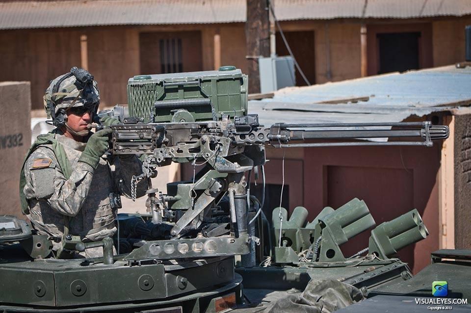 VISUAL EYES Emotive Storytelling Team video captures solider close up during Stryker Brigade Combat Team scenario