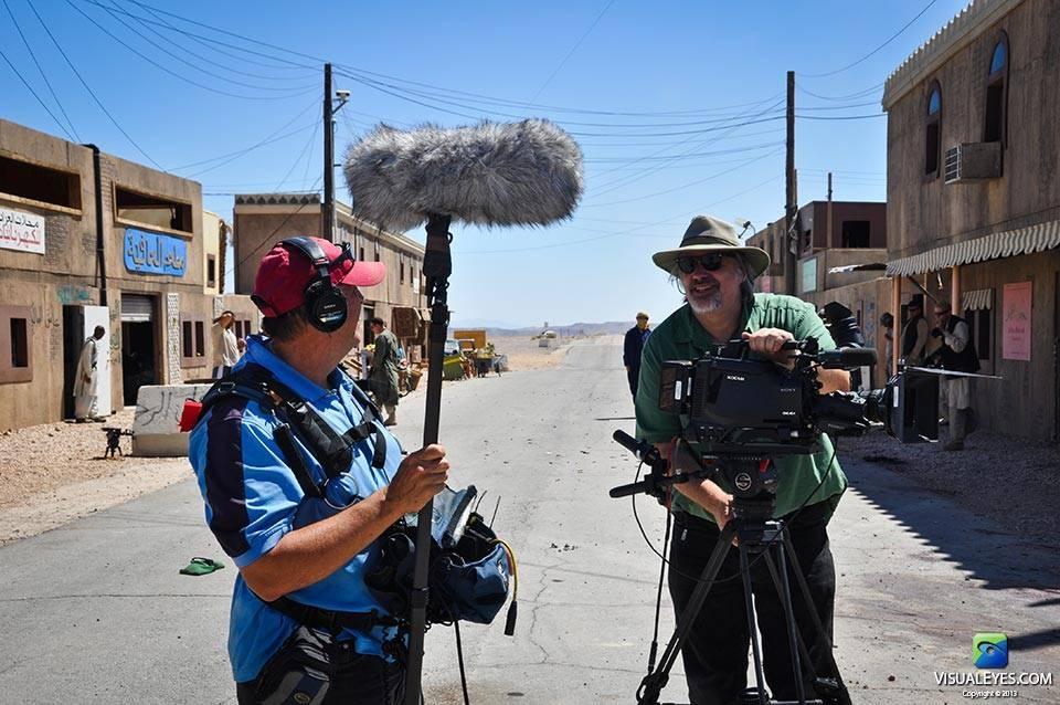 VISUAL EYES Emotive Storytelling Team preparing to video capture Stryker Brigade Combat Team scenario