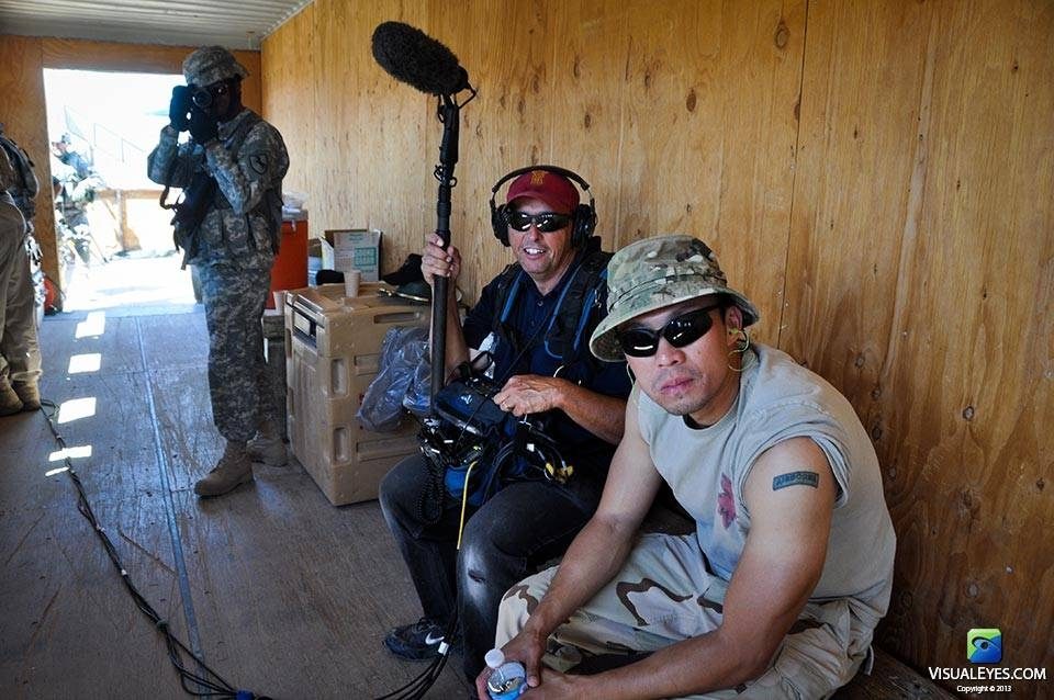 VISUAL EYES Emotive Storytelling Team with soldiers at NTC Fort Irwin