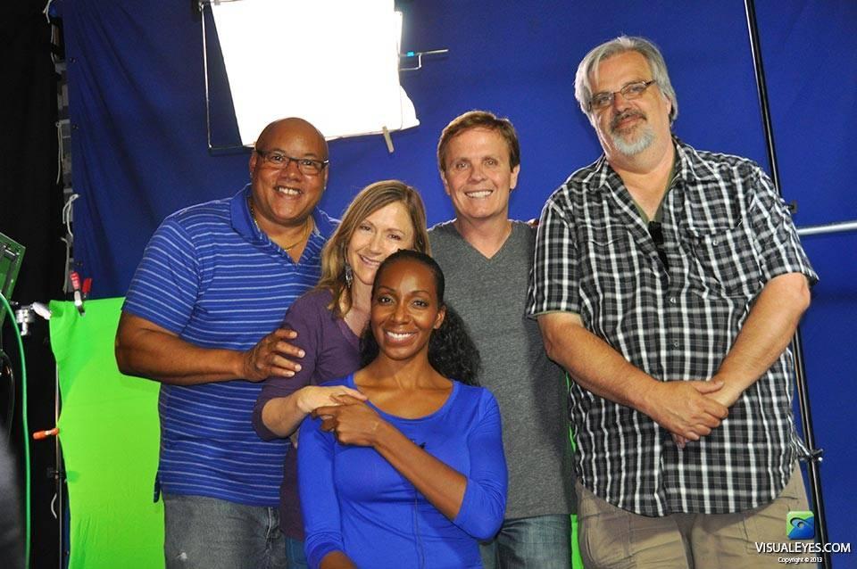 Dr. Gerard Gibbons with VISUAL EYES Emotive Storytelling Team Kela Holmes, Rick Simonton, Lou Tatum, Sheri Headly