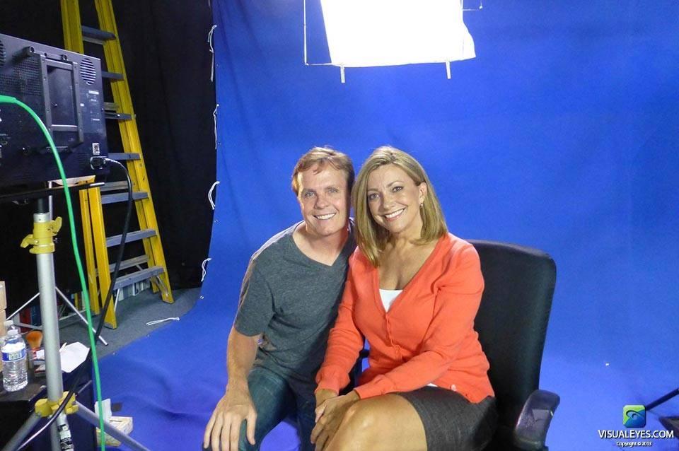 Dr. Gerard Gibbons, Director VISUAL EYES Emotive Storytelling Team on set with Julia Parker during Virtual Health Assistant