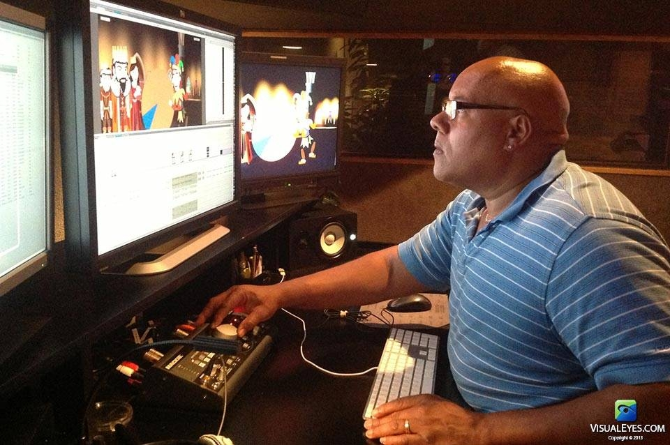 Lou Tatum VISUAL EYES Emotive Storytelling Team during King Cognos and the Wrong Brain animated fairy tale production.