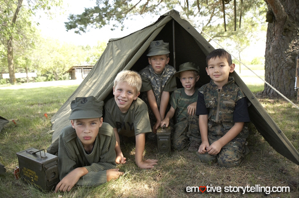 Narrative communication to influence behavior change: Kids Play Army