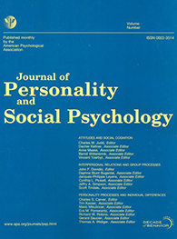 Journal Personality and Social Psychology