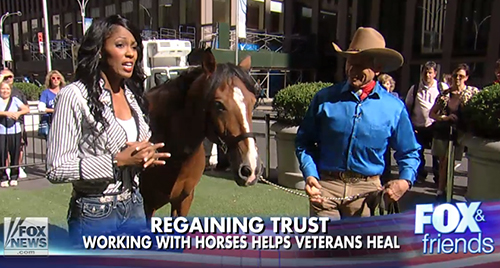 "SSGT Alicia Watkins (ret) and Monty Roberts ""Horse Sense & Healing"" helped her with PSTD"